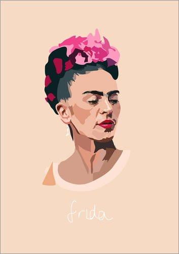 Posterlounge Alu Dibond 30 x 40 cm: Frida Kahlo di Anna McKay