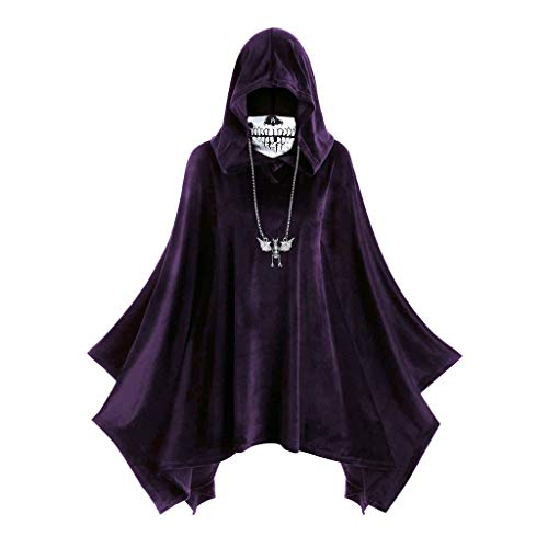Cheapest Costumes Australia (Womens Mask Cloak Beautyfine Fashion Hooded Strappy Vintage High Low Dress Blouse Tops)