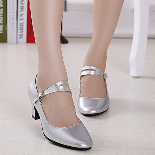 22 Shoes Latin Size Silver 0cm Leather Adult 8cm Dance Dance Women's 0cm Summer 26 To Shoes Height Soft 3 xUIgX