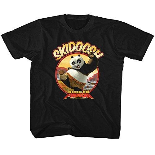 Kung Fu Panda Movie Skidoosh Black Toddler Little Boys T-Shirt Tee