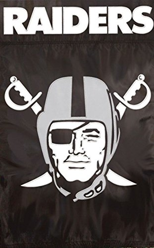Party Animal Applique Banner Flag, Raiders/Oxford , OS
