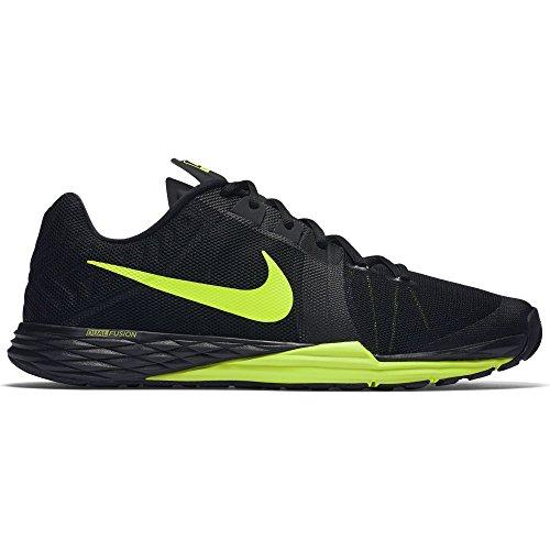 NIKE Men's Train Prime Iron DF Cross-Trainer-Shoes, Black/Volt/Cool Grey, 9 D(M) US