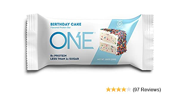 Amazon ONE Protein Bar MINI Birthday Cake 30 Pack Gluten Free Mini Sized With 8g And Low Sugar Less Than 1g