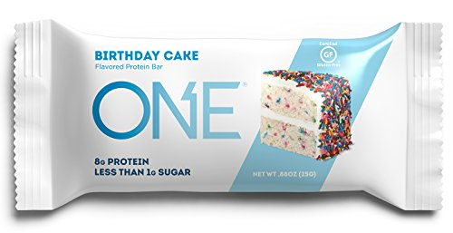 ONE Protein Bars MINI, Birthday Cake, Gluten Free Protein Bars with 8g Protein and less than 1g Sugar, Guilt-Free Snacking for High Protein Diets, .88 oz 30 Pack