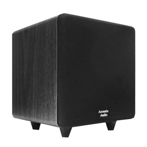 Acoustic Audio CS-PS8-B Front Firing Subwoofer (Black) by Acoustic Audio by Goldwood