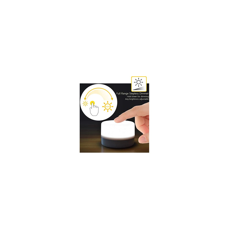RTSU Bedside Lamp, Dimmable Touch Tap Light Novelty Light, Kids Children Adult LED Nightlight, Table Desk Atmosphere Decorative Mood Light Lamp, Bedroom Living Room Baby Nursery Night Light