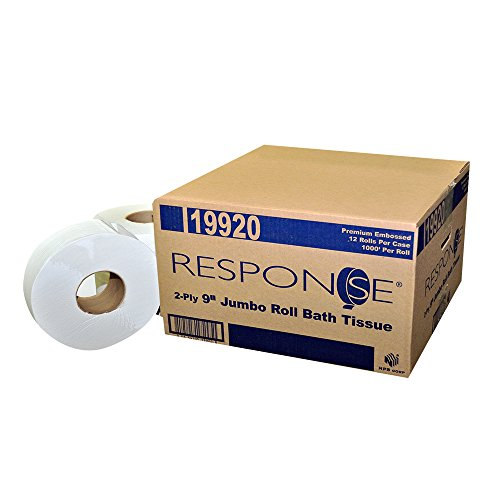 Bath Tissue 1000/2 Ply (Response 19920 Prem Embossed Jumbo 2-Ply Bath Tissue Roll, 9