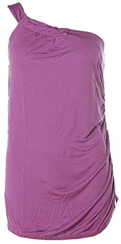 Muchacha - Camiseta sin mangas - Asimétrico - Sin mangas - para mujer morado