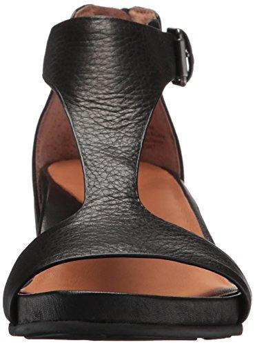 Zachte Zielen Vrouwen Gisele T-strap Wedge Sandaal Zwart
