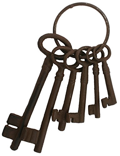 Cast Iron Skeleton Key Set Jail Cell Jailer Pirate -