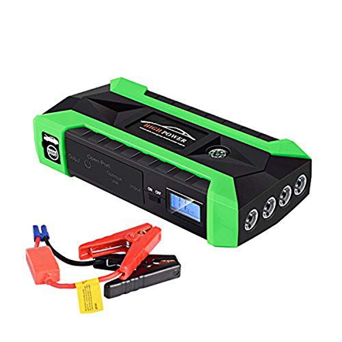 Portable Car Jump Starter 600A Peak 20000mAh/89800mAh (up to 6.0L Gas, 3.0L Diesel Engine) Auto Battery Booster and Phone Charger with Smart Jumper Cables Power Pack by IH-TECH