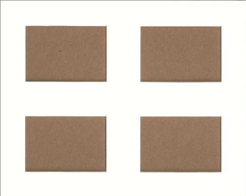 Pack of 5 8x10 White Picture Mats with White Core Bevel Cut for 4 2.5 X 3.5 Aceo or Sport Card
