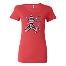 Womens Sock It To Cancer Breast Cancer Awareness Tri-Blend T-shirt