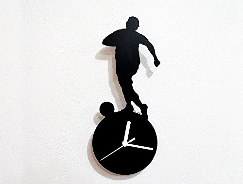 Soccer Silhouette Wall Clock by Sol Pixie Dust
