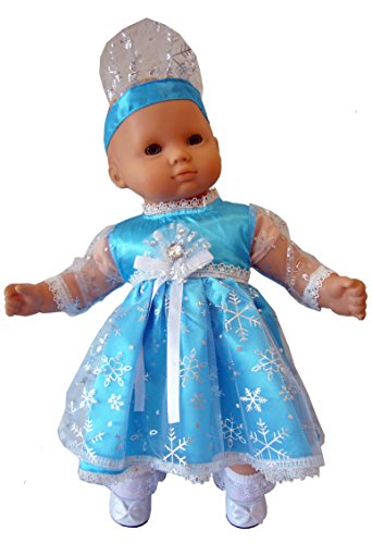 """Teal Blue Frozen Outfit for 15"""" Bitty Baby Dolls + Twins by Doll Clothes Sew Beautiful"""