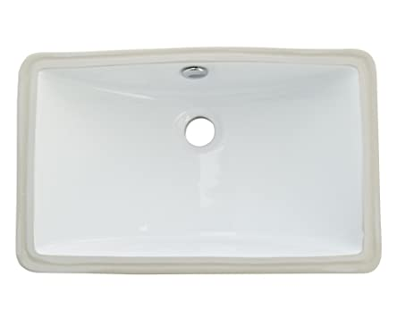 kingston brass lb18127 fauceture courtyard undermount bathroom sink with overflow white