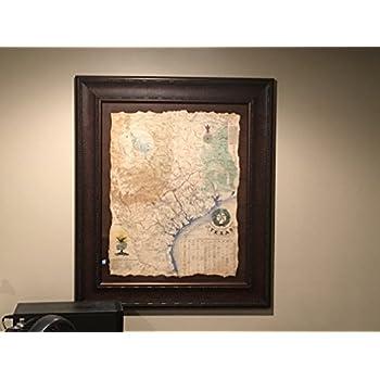 Amazon Com 1836 Framed Texas Revolutionary Map Texas Art