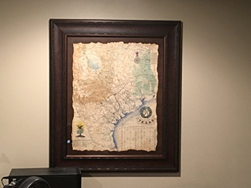 1836 Framed Texas Revolutionary Map, Texas Art, Texas Map, Rustic Art ()