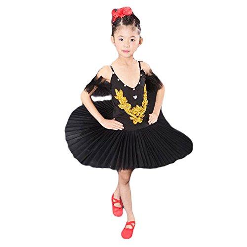 Toddler Ballet Dress/Sling Ballet Black Skirt/Swan Lake Costumes (Swan Ballet Costume)