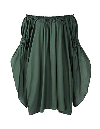 Medieval Celtic Clothing - ReminisceBoutique Renaissance Medieval Peasant Dress Up Pirate Faire Celtic Blouse (Small, Green)