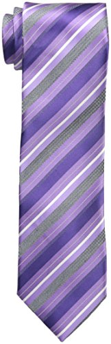 Geoffrey Beene Men's Beyond Stripe Tie, Purple, One Size (Geoffrey Stripe Beene Mens)