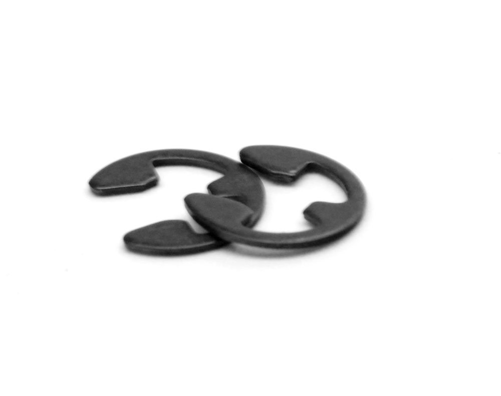 Medium Carbon Steel Black Oxide Pk 50 7//32 E-Clip External E-Ring