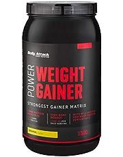 Body Attack Power Weight Gainer, 100% Masseaufbau, Kohlenhydrat-Eiweißpulver zum Muskelaufbau mit Whey-Protein, ideal für Hardgainer