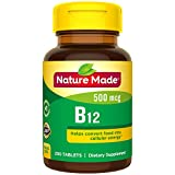 Nature Made Vitamin B12 500 mcg Tablets, 200 Count for Metabolic Health† (Packaging May Vary) Larger Image