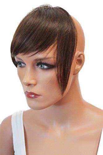 PRETTYSHOP 100% cabello humano franja un postizo El engrosamiento del cabello la extension del pelo marron oscuro # 4 H313f