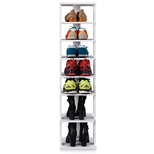 s Storage Stand Simple Modern 7 Tiers Single Shoe Rack Organizer Multi-Shoe Rack Shoe box Storage Shelf ()
