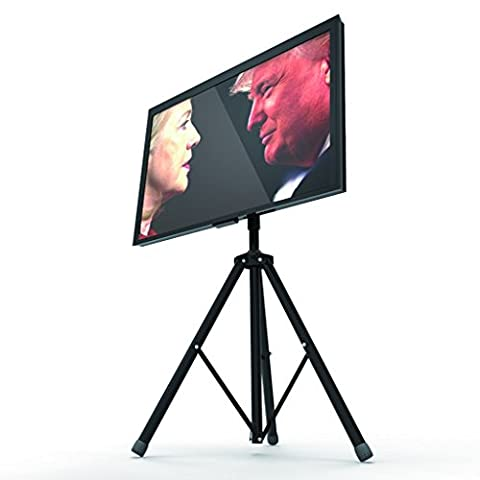QIAYA Mobile TV Cart Tripod TV Stand 360 Rotation Portable Universal for 32 to 55 inch Flat Panel Screens LED LCD OLED Plasma