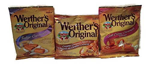 CDM product WERTHERS Original 3 Pack - Creamy Caramel Filled Hard Candies, Fudge Caramels, Soft Creme-Caramels big image