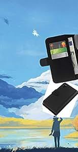 JackGot ( Azul Paisaje de montaña ) Sony Xperia Z3 D6603 la tarjeta de Crédito Slots PU Funda de cuero Monedero caso cubierta de piel
