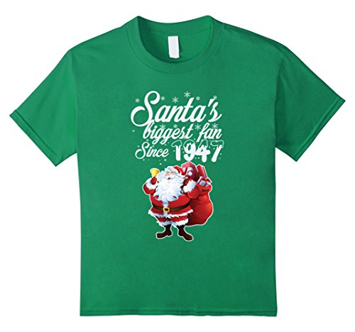 [Kids 70th Birthday Shirt. Christmas Costume For 70 Years Old. 6 Kelly Green] (70's Costume Ideas For Kids)