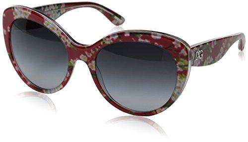 Dolce & Gabbana DG4236 Sunglass-28458G Red Flowers (Gray Grad - Gabbana Mens And Dolce 2014 Sunglasses