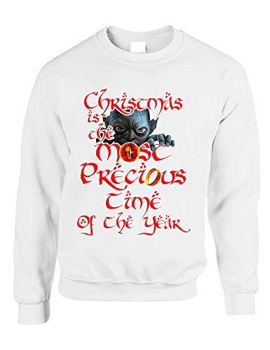 Allntrends Adult Sweatshirt Christmas is The Most Precious Time (XL, White) (Precious Ring Lord Of The Rings Quote)