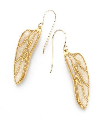 Parure Papillon d'Or - Aile Millefiori Nacrée - Nervures dorées Fait main - Petit modèle 3.6cm