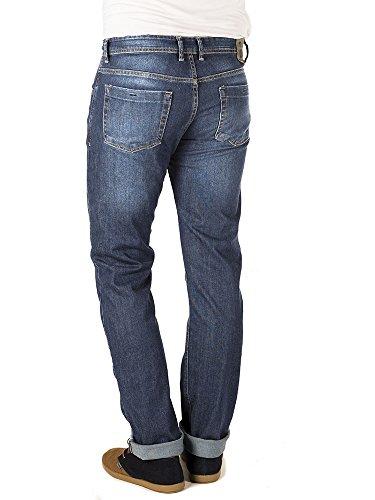 Azul Desgastado Bu Straight Ray Azul para Jeans Vaqueros Indigo Hombre Merca cUqv6gv
