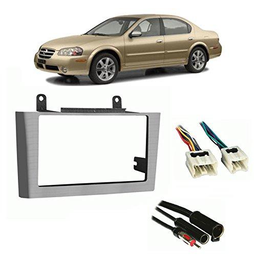 Fits Nissan Maxima 00-03 w/Bose/Comfort Pkg DDIN Harness Radio Dash Kit (Aftermarket Maxima Accessories Nissan)