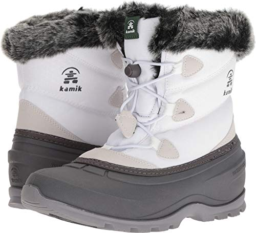 Kamik Women's MOMENTUMLO Snow Boot, White, 8 Medium US ()