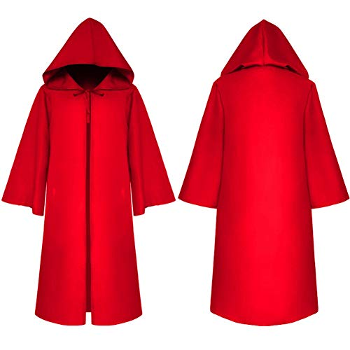 Dasior Unisex Hooded Cloak Robe Halloween Cosplay Knight Fancy Cape Party Costumes Child XL -