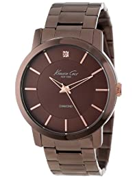 Kenneth Cole New York Men's KC9287 Rock Out Brown Dial Diamond Dial Analog Bracelet Watch