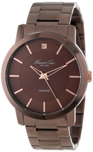 Kenneth Cole New York Men's KC9287 Rock Out Brown Dial Diamond Dial Analog Bracelet Watch