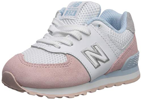 New Balance Girls' Iconic 574 V1 Running Shoe, Oyster Pink/AIR, 8 M US Toddler