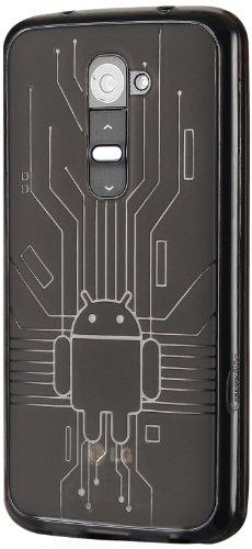 LG G2 Case, Cruzerlite Bugdroid Circuit TPU Case for the LG G2 - Retail Packaging - Smoke