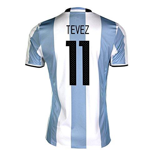 ピアースやむを得ない速報Tevez #11 Argentina Home Soccer Jersey Copa America Centenario 2016/サッカーユニフォーム アルゼンチン ホーム用 テベス 背番号11