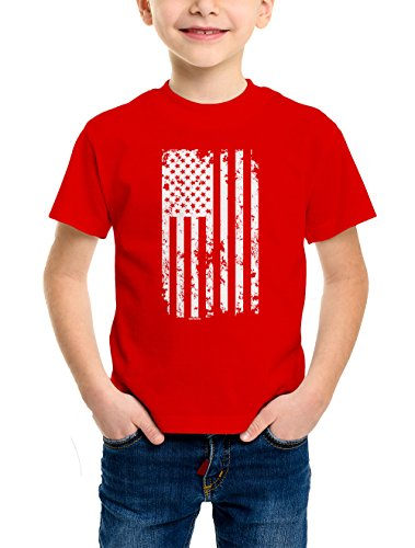 YOUTH Boys White American T shirt