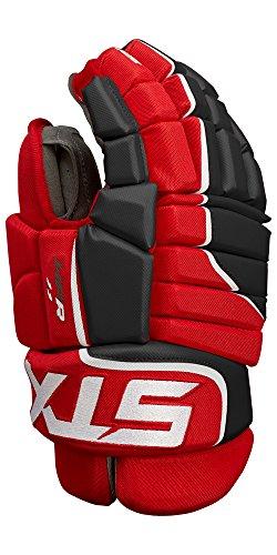 STX Ice Hockey Stallion HPR 1.1 Senior Ice Hockey Glove, Black/Red, 15'