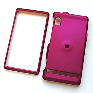 Motorola Droid A855 Verizon Rubberized Snap On Protector Hard Case Rose Pink