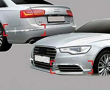 Accesorios para Audi A6 C7 a partir de 2011 Facelift cromo parachoques necken listones paneles Tuning Protección para parachoques bumper Molding: Amazon.es: ...